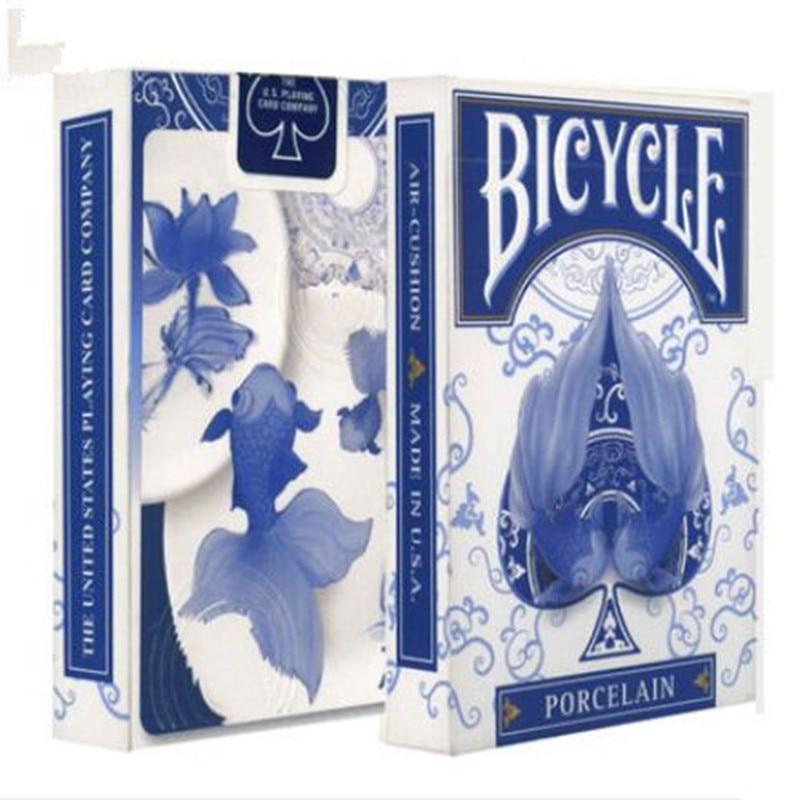 1 قطع دراجة الخزف بوكر السحر أوراق اللعب الدعائم الخدع السحرية الخدع السحرية جودة عالية سطح PLC-080