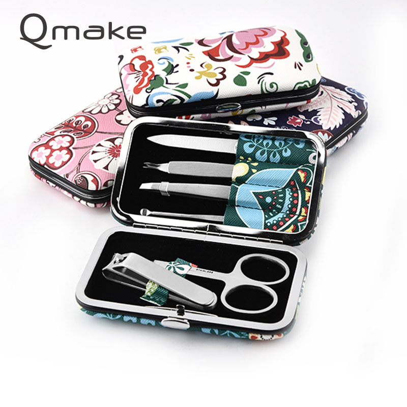 Nail Art Manicure Tools 6PCS/set Toenail Fingernail Clipper Scissors Knife Cutter Manicure 12 pcs nail art manicure tools set nails clipper scissors tweezer knife manicure sets stone pattern case for nail manicure