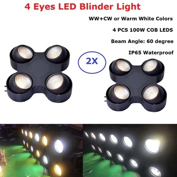 Cob Stage Light 4 Eyes 4X100W LED Warm White Audience Light DMX Controller LED COB Par Light For Stage Disco Light Party Wedding