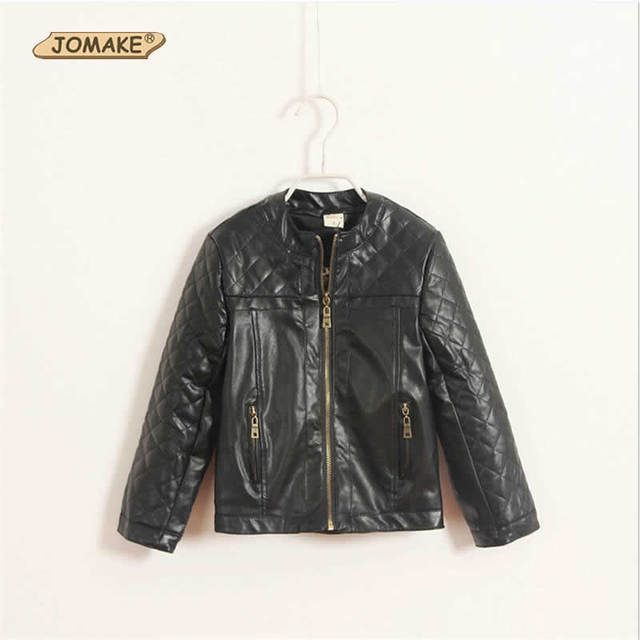 Pu Leather Baby Boys Jacket Autumn And Winter Fashion Brand Long Sleeve Zipper Kids Coats Cool Boys Clothing Children Outwear