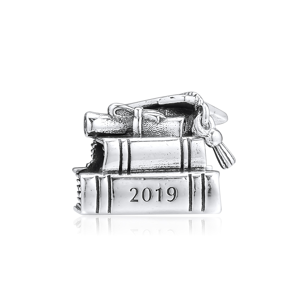 Silver 925 Jewelry Cap Book & Scroll Charms Fits Pandora Bracelet Beads for Jewelry Making Original Sterling Silver Bead CharmSilver 925 Jewelry Cap Book & Scroll Charms Fits Pandora Bracelet Beads for Jewelry Making Original Sterling Silver Bead Charm