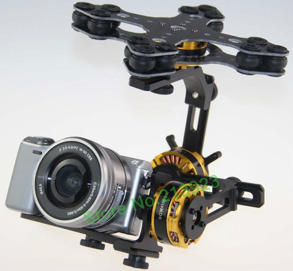 DYS 3 Axis Gimbal Control Mount Kit + Original Alexmos Controller + 3pcs 4108 Brushless Motor For Sony NEX ILDC Camera цена