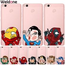 Marvel Avengers Cases For Xiaomi Mi 5X a1 Mi6 Redmi 4 6 6A Note X 4A 5A Deadpool Super iron Man Spiderman cases Cover etui