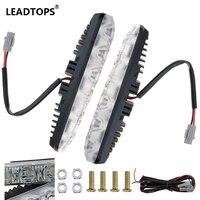 LED Daytime Running Light Waterproof DRL LED Far Car Headlight High Power Beam Aluminum Warning Driving