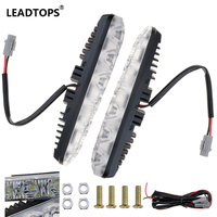 LED Daytime Running Light Waterproof DRL LED Far Car Headlight High Power Beam Aluminum Warning Driving