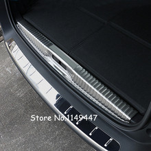Для Peugeot 5008 GT 2017 Нержавеющаясталь Экстерьер стайлинга автомобилей внутренняя Интимные аксессуары заднего бампера протектор Обложка Накладка 1 шт.
