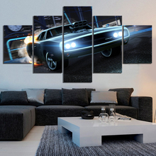 Home Decor Canvas Hd Print Posters 5 Panel Luxury Sports Car Rocket League Game Painting Modern Wall Art Classic Modular Picture