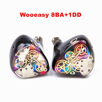 2017 Wooeasy 8BA 1DD In Ear Earphone Drive Unit DIY HIFI Custom Made Monitoring Earphone With