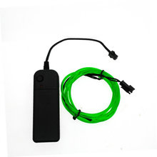 1 m/2 m/3 m/5 m Neon Luz TV Dance Party Decor Luz Neon LEVOU lâmpada flexível el wire rope tubo à prova d' água led strip com controlador(China (Mainland))