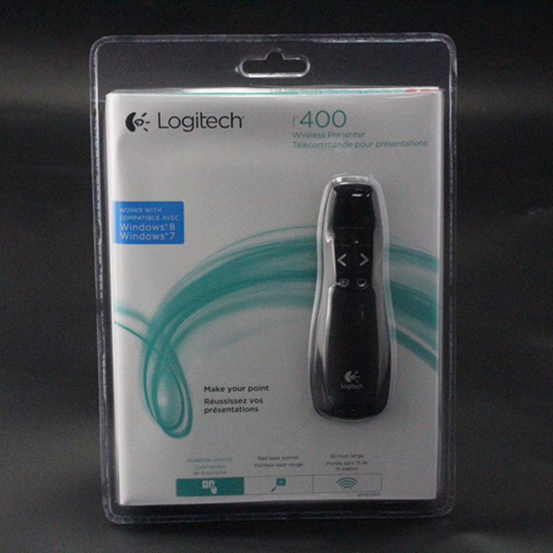 JSHFEI Laser Pointer Logitech R400 Presentation Pointer Pen USB 2.4G RF Wirele& with bag IR PPT Presenter 650nm Wholesale Lazer smartpointer usb rf presenter with red laser pointer