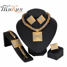 MUKUN statement brand jewelry set Nigerian Wedding woman accessories Big jewelry set Wholesale Dubai Gold Color Jewelry Set mukun nigerian wedding woman accessories jewelry set fashion african bead jewelry set brand dubai big gold color jewelry sets
