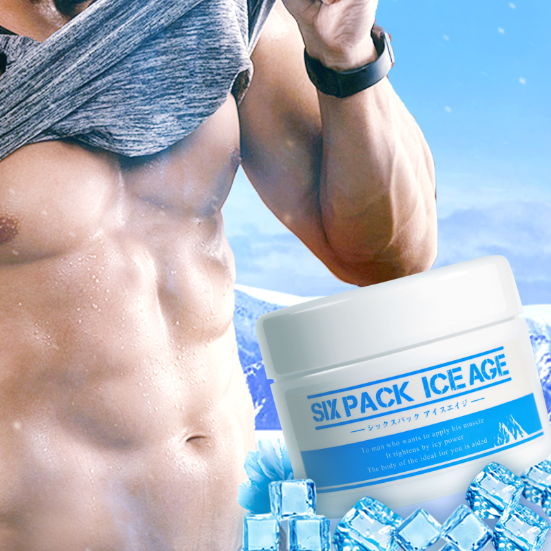 Japan Six Pack Ice Age Massage Cream for Body Slimming Gel Anti Cellulite Weight Loss Diet Support Potbelly Remover Cold Therapy