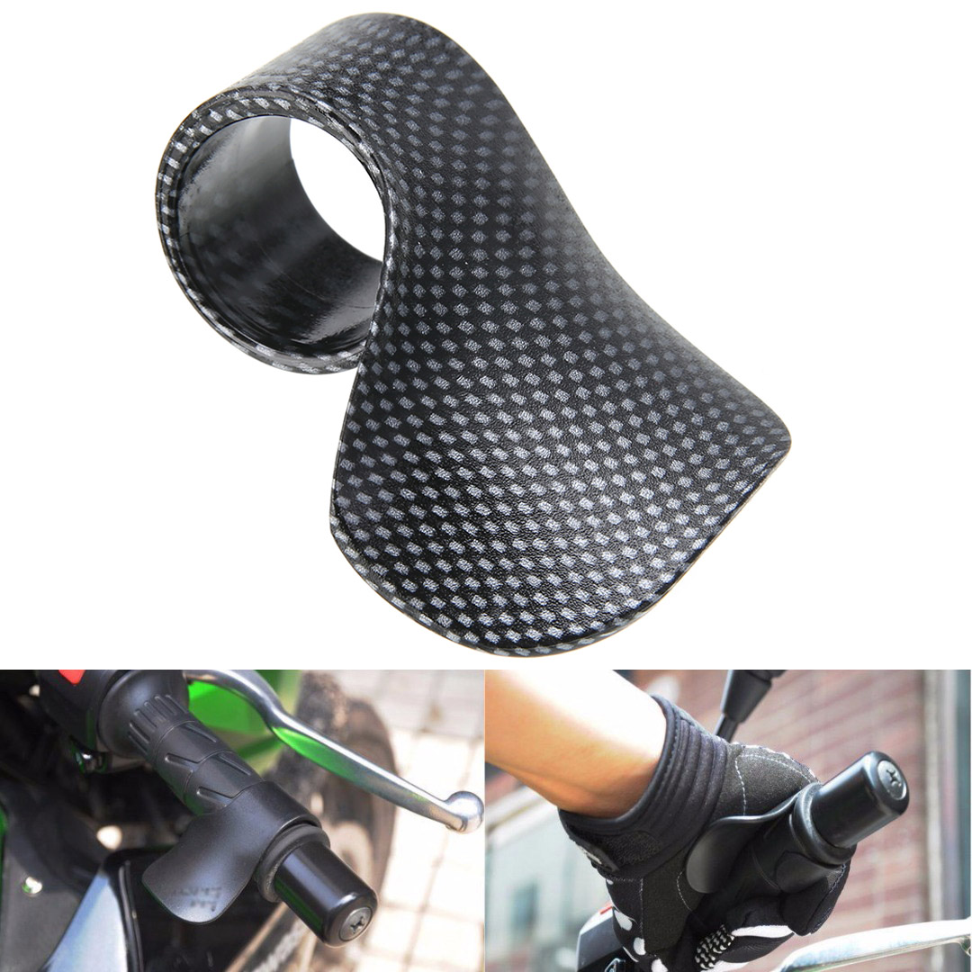 Carbon Fiber Style Motorcycle Throttle Assist Plastic Universal Motorbike Grip Throttle Assist Wrist Cruise Control Cramp Rest