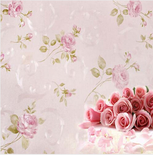 Online shop europe rustic flower wallpaper rose pink purple wall online shop europe rustic flower wallpaper rose pink purple wall paper papel parede 3d waterproof papel pared for bedroom living room aliexpress mobile mightylinksfo