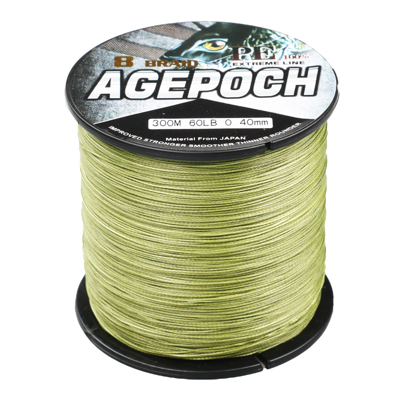 Strong top quality 8 strands 300m multifilament pe braided for Bulk braided fishing line