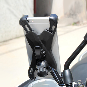 Image 5 - Universal Motorcycle Scooter Rear View Mirror Mount Cell Phone Holder Grip Stand for iPhone 7/8,XS, XR for Galaxy S9/9 Plus etc