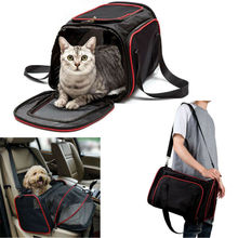 2019 New Pet Cat Dog Soft Sided Carrier Foldable Travel Comfort Bag Airline Carriers Bags