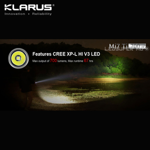 Image 2 - ベストセラーklarus Mi7 ti 700 ルーメンcree XP LハイV3 ledポータブルチタンaa懐中電灯無料のバッテリー