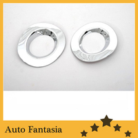 Chrome Fog Light Cover for Nissan March Micra K13 10-13-free shipping