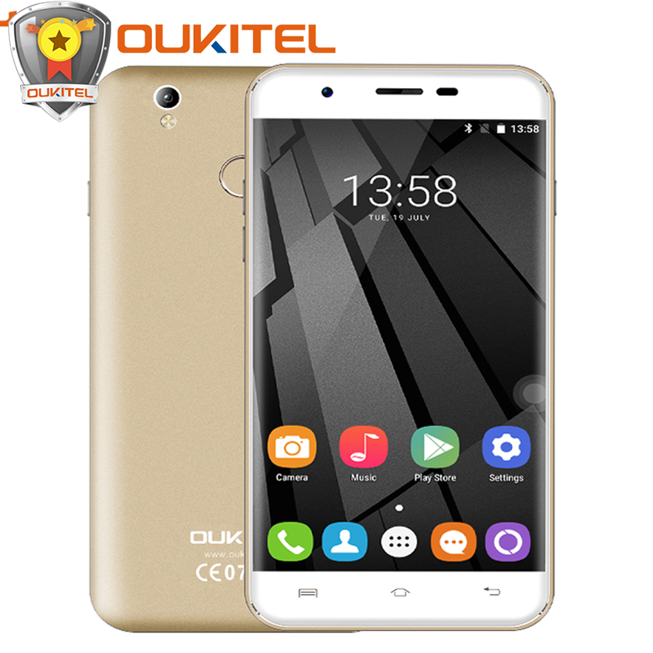 Official Oukitel U7 MAX 5 5 Inch HD Mobile phone MTK6580A Quad Core Android 6 0