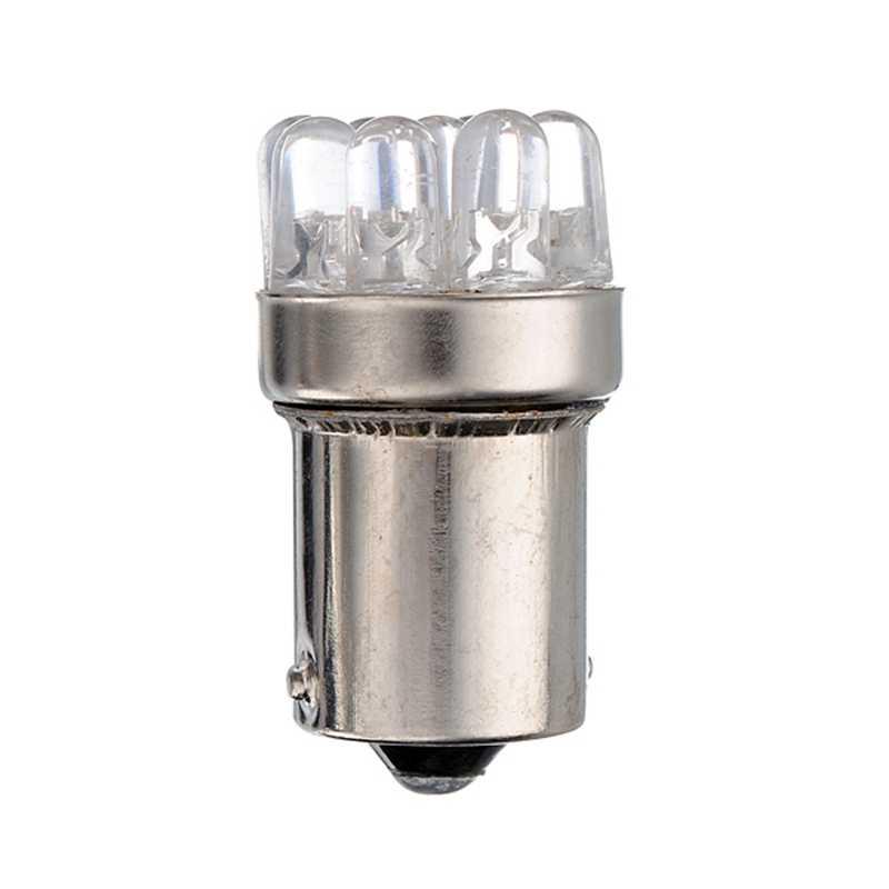 Excellente qualité BA15S 1156 9 LED voiture Auto Source de lumière queue frein ampoules de stationnement lampe P21W ambre jaune blanc DC12V