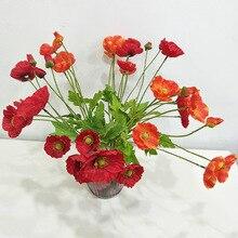 Shou gan hua Corsage Home Wedding Decoration Artificial Flowers Simulation Poppy Wholesale Corn
