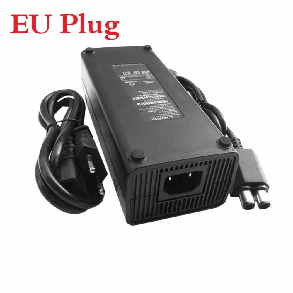 AC 100-240 v Adaptador de Alimentação Carregador de Cabo para X-BOX 360 Fino Ideal Substituição Carregador Com Indicador LED luz Plugue DA UE