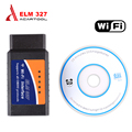 2016 Best Price ELM327 Wifi Scanner Auto OBD2 Diagnostic Tool ELM 327 WIFI OBDII Scanner V 1.5 Wireless For Both Android / IOS