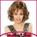 Medusa produtos para o cabelo: Sintético perucas pastel para as mulheres Impressionante comprimento médio curly estilos cor Mix peruca com franja SW0375B