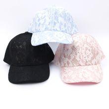 Népszerű női baseball sapkák csipkés napvédők lélegző hálós kalap Gorras nyári sapka nők számára Snapback Casquette