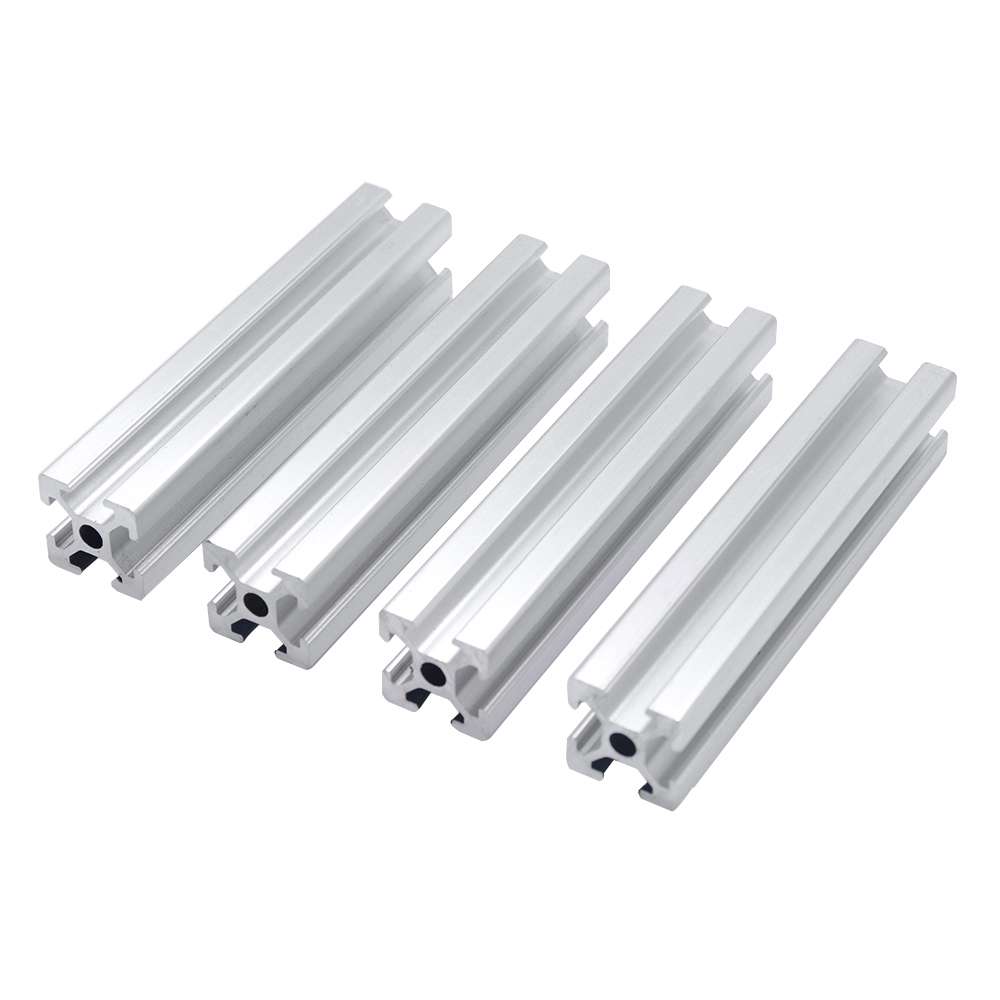 4pcs 2020 Aluminum Profile 2020 Extrusion EU Standard 3D Printer Parts Anodized Linear Rail Aluminum Profile