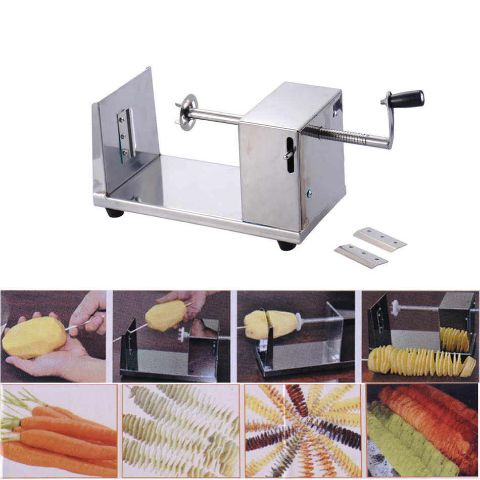 cat kitchen accessories 2017 durable potato cutter machine spiral cutting machine 2017