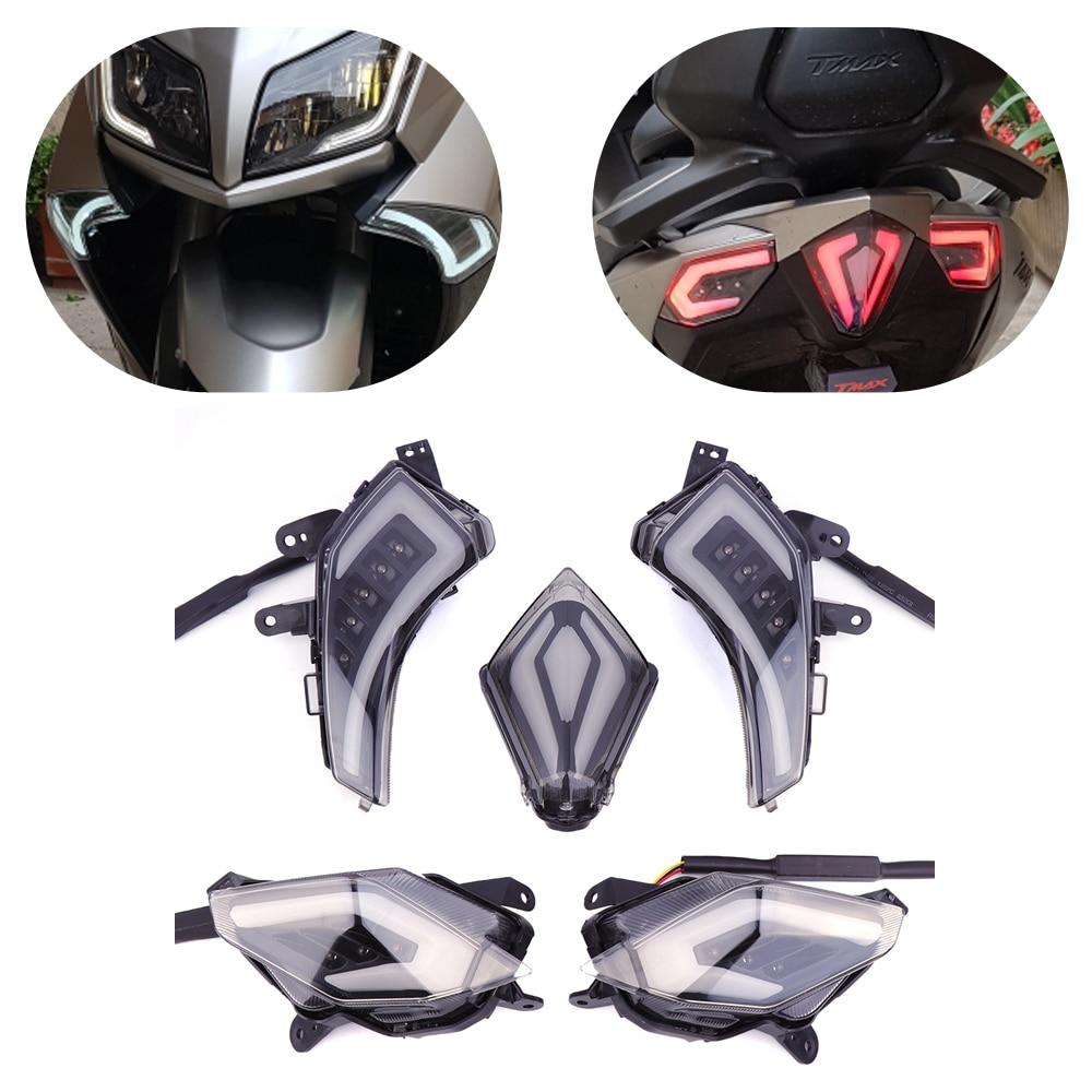 KEMiMOTO для YAMAHA TMAX530 Tmax 530 T-Max530 T-Max 2012-2016 мотоцикл задние Лампа стоп-сигнала светодиодный поворотник Индикаторы
