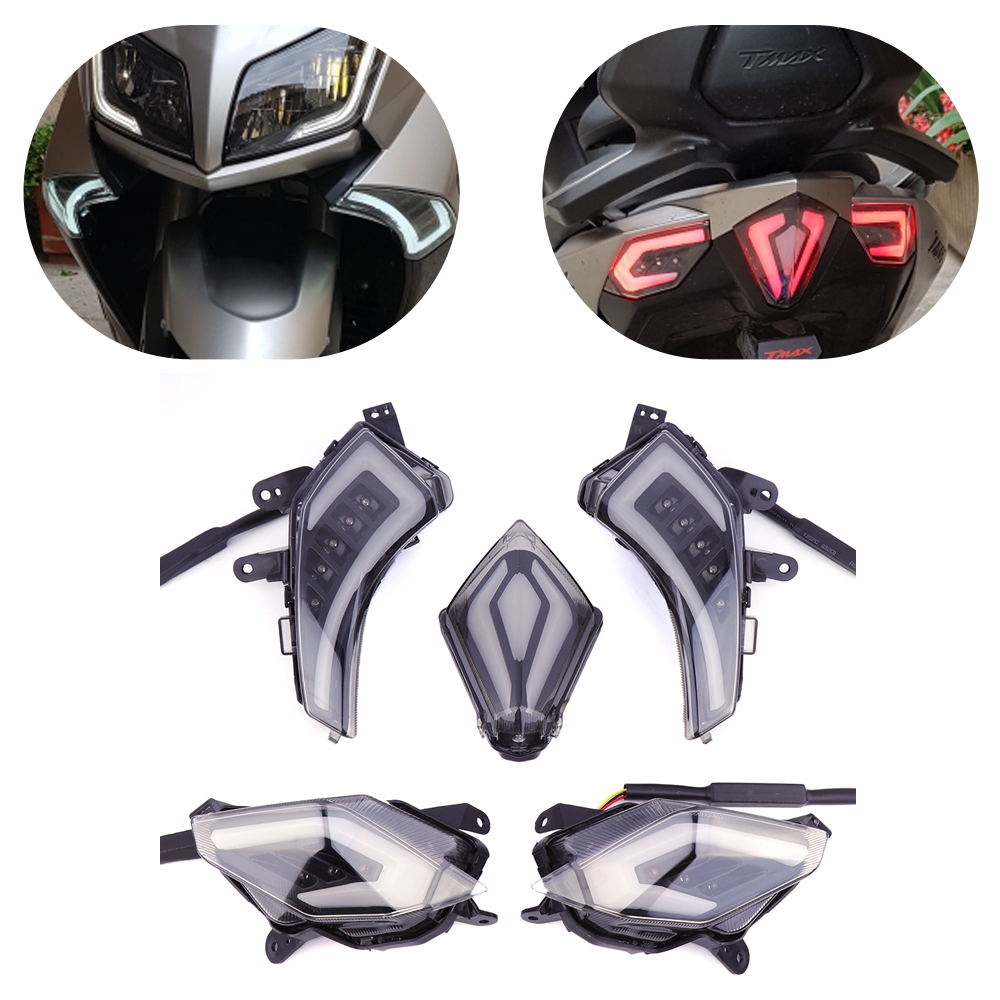 KEMiMOTO для YAMAHA TMAX530 Tmax 530 T-Max530 T-Max 2012-2014 мотоцикл задние Лампа стоп-сигнала светодиодный поворотник Индикаторы