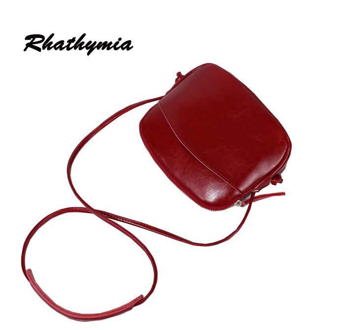 2017 new arrive women messenger bags genuine leather high quality mini bag red