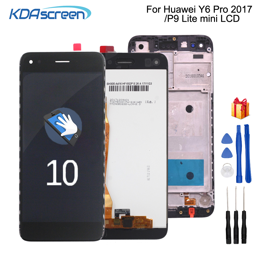 Original For Huawei P9 Lite Mini LCD Display Touch Screen For Huawei Y6 Pro 2017 LCD With Frame LCD SLA L02 L22 L03 Screen