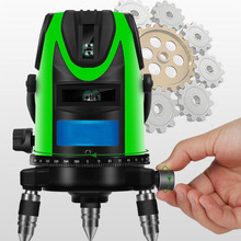 3-Line Green 3D Laser Level 360 Rotating Fine-Tuning Automatic Line Indoor And Outdoor Mode Detector