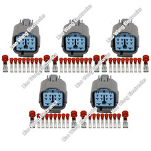 цена на 5 sets 10-pin plastic parts waterproof connector wiring harness connector with terminal plug 6189-0555 10P