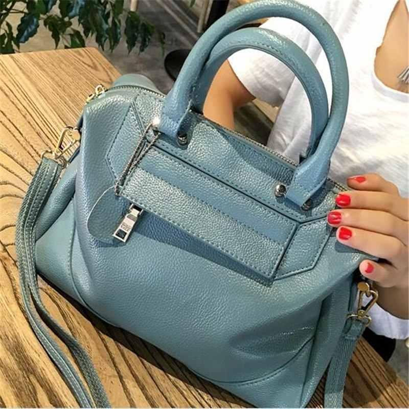 High Quality Women's Genuine Leather Handbags Women Cow Leather Bags Big Size Women Messenger Shoulder Bag Bolsas Feminina