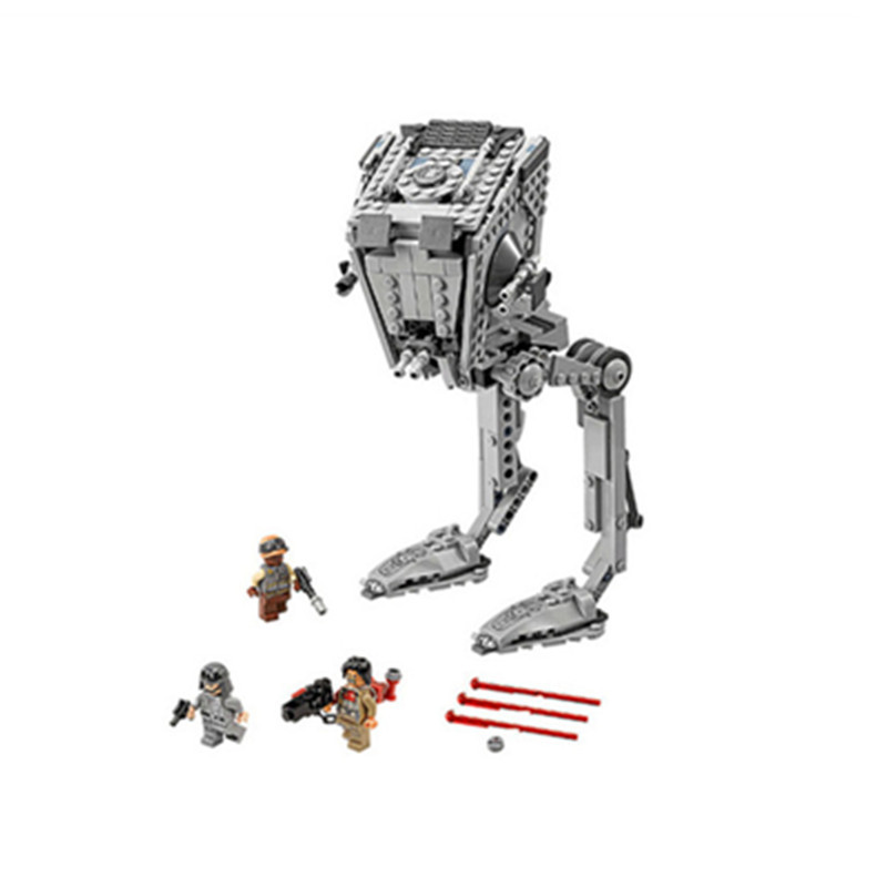 471pcs Diy Star Wars The Rogue One AT Set ST Walker Building Blocks Compatible With Legoingly Brick Toys For Children Brinquedos star series war the rogue one at set st walker educational building blocks bricks toys compatible lepins diy model figures