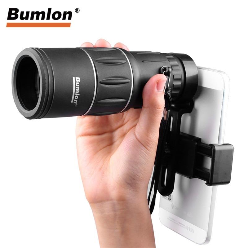 16X52 HD Monocular Telescope Dual Focusing Adjustment Binocular Spotting Scope for Hunting Watching Bird HT38-0007