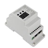 BC 835 DIN RJ45 DC12 24V input 5A*5CH output, DIN Rail 5CH CV PWM DMX512/1990 Decoder controller for led strip light lamp