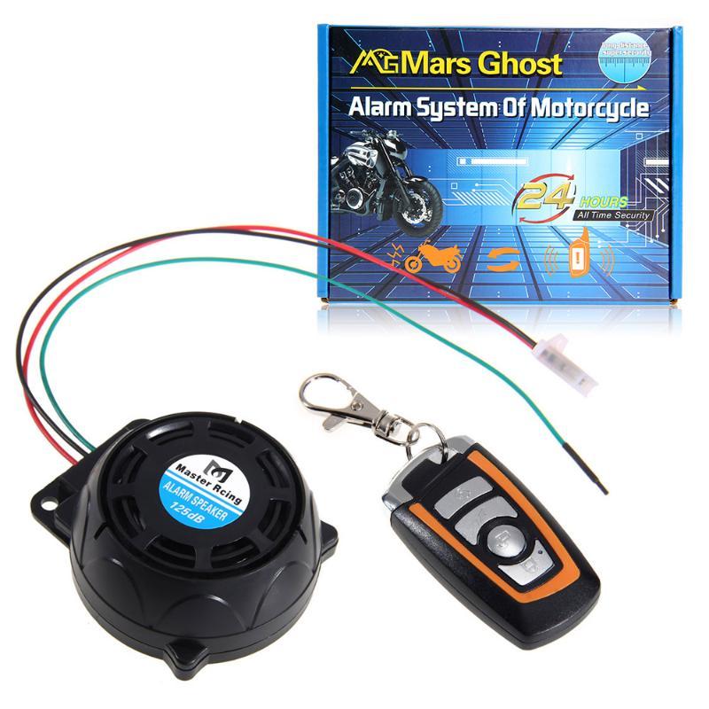 Carchet 12 v motocicleta sistema de alarme de segurança anti-roubo alarme de segurança de controle remoto do motor de segurança 125db proteção contra roubo