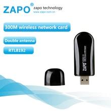 ZAPO 300Mbps wi-fi community card 802.11n/g/b wifi adapter Mini usb wi-fi receiver wi fi ethernet dongle lan Adaptador RTL8192