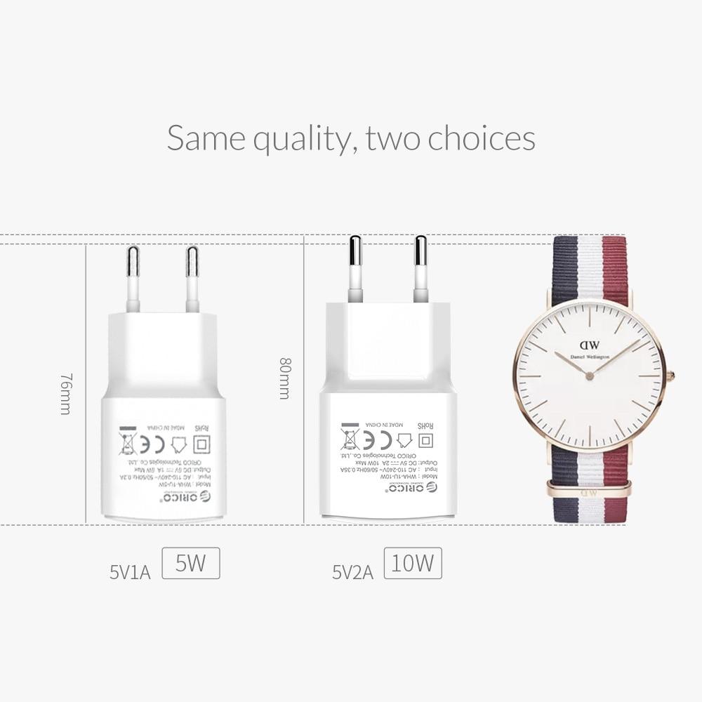 ORICO Travel USB Oplader 5V2A 5V1A EU Plug Mini Oplader Adapter Smart - Mobiltelefon tilbehør og reparation dele - Foto 4