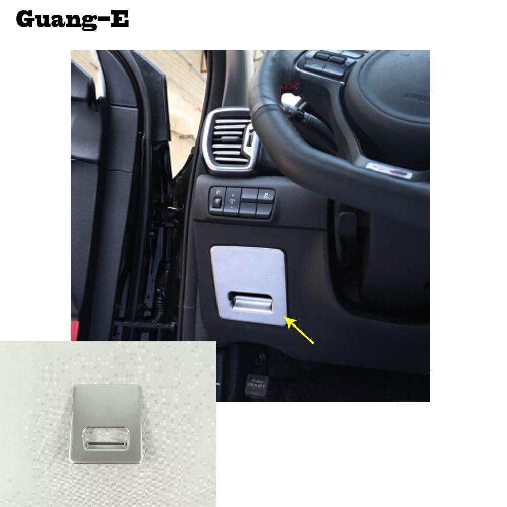 Car bowl trim handle ABS chrome Glove Container switch Storage case box trim hoods Copilot For Kia Sportage KX5 2016 2017 2018