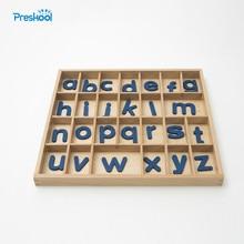 Детские игрушки Монтессори подвижные алфавитов коробка буквы деревянные для дошкольного образования детей дошкольного возраста Brinquedos Juguetes
