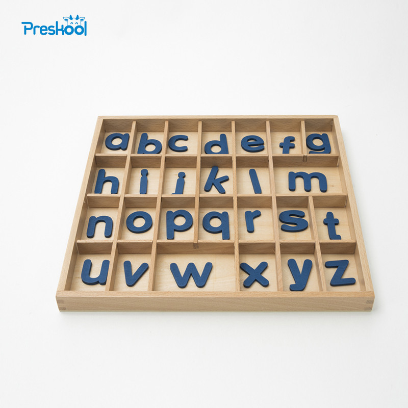 Baby font b Toy b font Montessori Movable Alphabets Box Letters Wood for Early Childhood Education