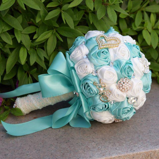 Online Shop Luxus Kristall Perlen Burgund Brautjungfer Blumenstrauss