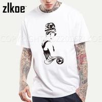 Fashion Famous Star Audrey Hepburn T Shirt For Men Short Sleeve Casual Tops T Shirt Clothing